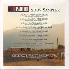 RED PARLOR 2007 CD Sampler Promo Foehl David Olney West Coast Grand Shanghai