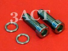 2 pcs Titanium Bolt M6 x 19mm w/ Ti Washer - Shimano Crank Arm XT, SLX, 105