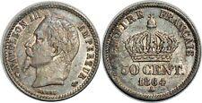 50 CENTIMES NAPOLEON III 1864 A PARIS   F.188 SUP!!!