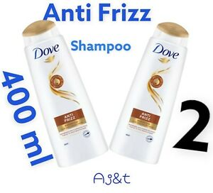 Dove Anti Frizz Shampoo   For  Frizzy and Dry Hair 2 x 400 ml