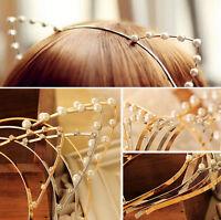 Women Cat Ears Faux Rhinestones Alloy Headband Fashion Girls Hair Band Gift FBCA