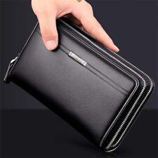 Wallets for men with zipper closure ebay mens genuine leather business zip big wallet clutch purse card holder handbags colourmoves
