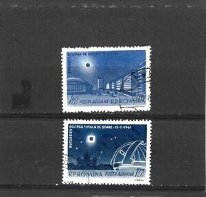 Romania 1961 Solar Eclipse Set CTO