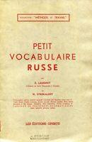 E. Lambert et N. Strekaloff - Petit vocabulaire russe