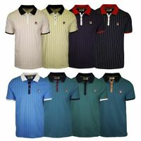 FILA Men's Striped Snap On F-Box S/S Polo T-Shirt (S37)