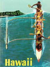 110719 TRAVEL HAWAII BOAT OCEAN WAVE ISLAND Decor LAMINATED POSTER AU