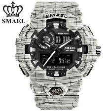 SMAEL Brand Digital LED Electronic Watches Men Military Sport Quartz Wristwatch