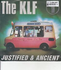 THE KLF Justified & Ancient PICTURE SLEEVE 45 record + juke box strip NEW RARE!