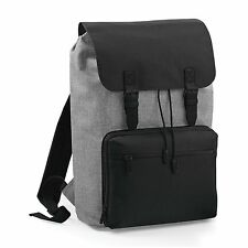 Grey Vintage Laptop Bag Backpack Rucksack Case School Work College Briefcase