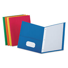 """Oxford Twin-Pocket Folders with 3 Fasteners Letter 1/2"""" Capacity Assorted 25/Box"""