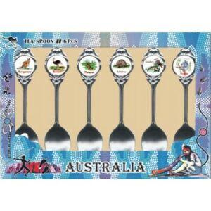 Australian Souvenir Spoons Set of 6 Spoons featuring Australian Animals