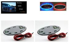 "Blue & Red LED Lo-Glow light Accessory Twin Pack for your 3.5"" Wide Ford Emblems"