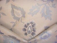 7-3/4Y Scalamandre TI 00392001 Villa Motta Blue Floral Brocade Upholstery Fabric