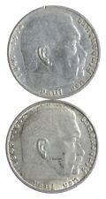 1937 1939 GERMAN WW2 NAZI 2 Mark Swastika Silver Coin - Germany War *449