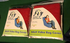 Set of 2 F.I.Y. Fill It Yourself Adult Video Bag Cover Red Cloth 2 Bags Of Bean