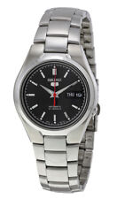 Seiko Automatic SNK607 SNK607K1 Men Black Dial Day Date Stainless Steel Watch