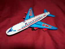 Old TWA Toy Tin Airplane Model Plane Play Trans World Airlines Vintage Souvenir