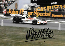 Mike Wilds  SIGNED, F1 March-Cosworth 731 , British GP Brands Hatch 1974