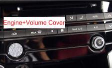 Silver Diamand Cover Decal Engine Start Volume Button for Jaguar XF XFL Emblem