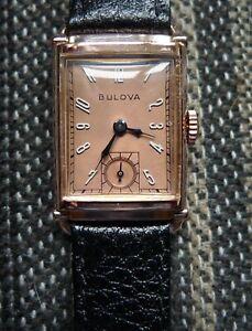 Vintage 1948 Bulova President Art Deco Watch