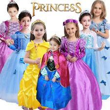 Kid Girl's Princess Costume Fairytale Dress Up Belle Cinderella Aurora Rapunzel.