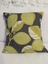Stunning Cushion Cover. Charcoal Grey, Chartreuse Green, Linen, Romo, Quality.