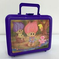 Treasure Trolls Aladdin Vintage 1992 Ace Novelty Plastic Carry School Lunchbox