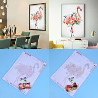 New Flamingo Flowers 11CT Cross Stitch Set DIY Craft Sewing Needlework Kits