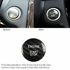 For Mercedes-Benz Carbon Fiber Engine Start Push Button Ignition Switch Cover