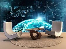 Internet Connection Outer 3D Wall Home Decor Removable Mural Print Decal Poster