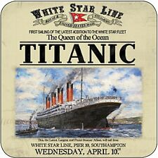 Titanic White Star Line cork backed drinks mat / coaster  (og)