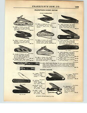 1928 PAPER AD Neft Hunting Fishing Safety Pocket Knife Knives Store Showcase