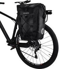 RockBros Completely Waterproof Pannier Bag Bicycle Rear Seat Carrier Black 27L