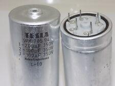 2pcs 200uF + 100uF + 100uF 350V TESLA Vintage Electrolytic capacitor NOS in Box
