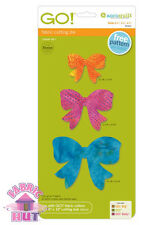 """Accuquilt GO! Fabric Cutter Die Bow 2.5"""", 3.5"""", & 4.5"""" Quilt Sewing 55341"""