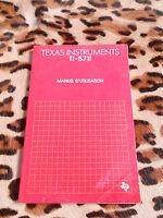 TI-5711, manuel d'utilisation - Texas Instruments, 1984