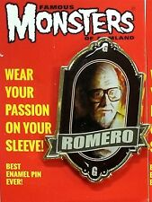 Famous Monsters George Romero Tribute Enamel Pin Night Of The Living Dead NEW