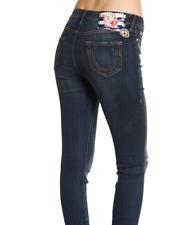 True Religion $259 Women's Halle Super Skinny Patched Jeans Sz 28