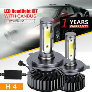 2XH4/9003 Bombillas de faros LED Hi-Lo Beam White for Hino 145 165 185 258 268