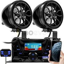 180W Amp Motorcycle Kart Bluetooth Waterproof Speakers Audio System Radio Stereo