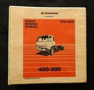 Internazionale NAVISTAR 400 500 Serie Co Diesel Semi Camion Service Riparazione