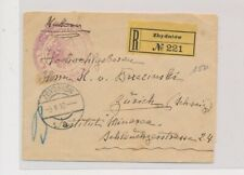 LM82155 Austria 1915 to Switzerland registered good cover used