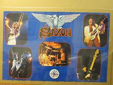 Vintage Saxon original rock band poster music artist 7204