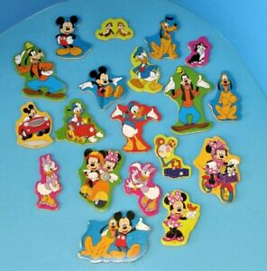 Disney Lot of 19 Melissa & Doug Wooden Magnets Mickey Mouse and Friends L@@K