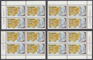 Canada - #691 US Bicentennial Matched Set of Plate Blocks - MNH