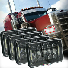 "5D 4pcs 4x6"" LED Hi-Lo Beam Headlights for Kenworth Peterbilt 357 379 378 Trucks"