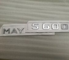 2 Letter Emblem Badge Rear Boot Trunk Stricker For Mercedes S600 Maybach