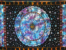 Twin Zodiac Astrology Psychedelic Tapestry Wall Hanging Hippie Mandala Bedspread