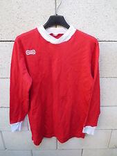 VINTAGE Maillot DUARIG porté n°13 ancien rouge trikot jersey shirt S années 80