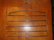 Vintage Mid Century Chrome Wire Metal Scarf Belt Pant Hanger Tie Rack - EUC